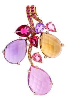 Batik Pendant - Pink Quartz 18k Pink Gold