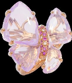 Bague Papillon - Améthystes Or Rose 18k