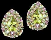Emotion Poire earrings - Peridots 18k Yellow gold