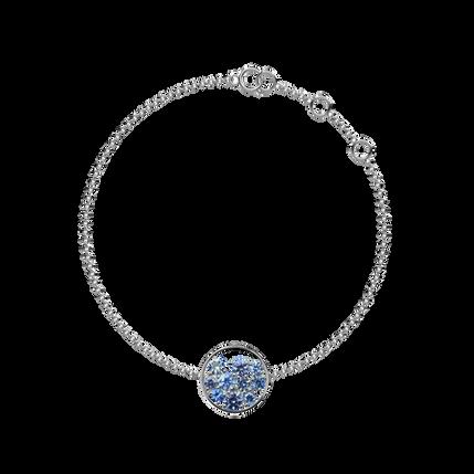 Bracelet Sac de Billes - Tanzanites Or Blanc 18k