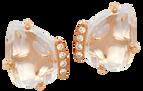 Boucles d'oreilles Papillon - Quartz Blanc Or Rose 18k