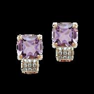 Pavés de Paris earrings - Rose de France 18k Pink Gold