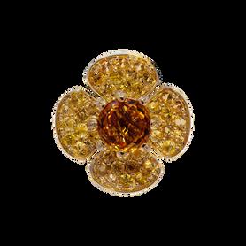 Pendentif Flora Lotus - Citrine Or Jaune 18k