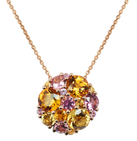 Pointilliste necklace - Citrines 18k Yellow Gold