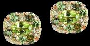 Emotion Coussin earrings - Peridot 18k Pink Gold