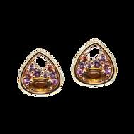 Petale earrings - Citrines 18k Yellow Gold