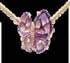 Collier Papillon - Améthystes Or Jaune 18k