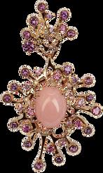 Pendentif Etoile de mer - Opale Rose Or Rose 18k