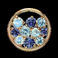 Pendentif Sac de Billes - Topazes Bleus Or Jaune 18k