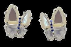 Boucles d'oreilles Papillon - Nacres blanches Or Blanc 18k