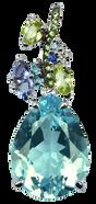 Pendentif Eden - Topaze Bleu Or Blanc 18k