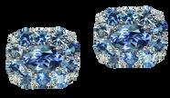 Emotion Coussin earrings - Iolites 18k Whit Gold