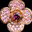 Flora Lotus earrings - Rhodolite 18k Pink Gold