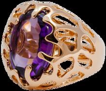 Bague Etoile de Mer - Améthyste Or Rose 18k