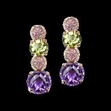 Macarons earrings - Amethysts 18k Pink Gold