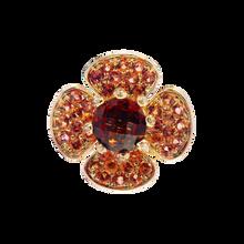 Flora Lotus pendant - Garnet 18k Pink Gold