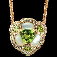 Flora Pensée necklace - Peridot 18k Yellow Gold