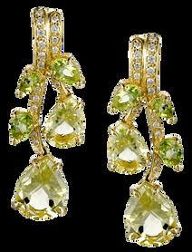 Earrings Batik - Quartz 18k Yellow Gold