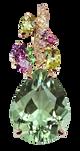 Eden pendant - Green Quart 18k Pink Gold