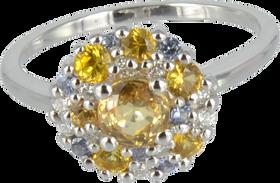 Emotion Rond ring - Yellow Sapphirs 18k White Gold