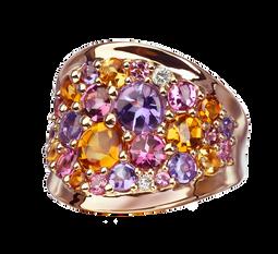 Petale ring - Citrine 18k Pink Gold