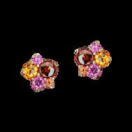 Pointilliste earrings - 18k Pink Gold