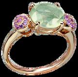 Macarons ring - Green Moonstone 18k Pink Gold
