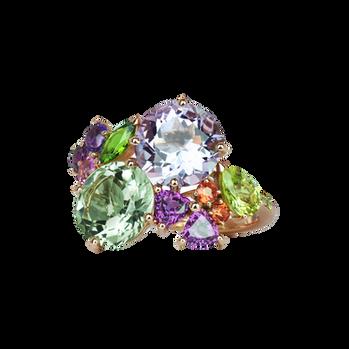 Eden ring - Green Quartz 18 k Pink Gold