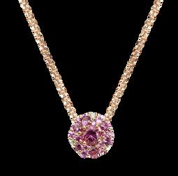 Emotion Rond necklace - Pink Tourmaline 18k Yellow Gold