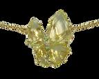 Collier Papillon - Quartz Or Jaune 18k