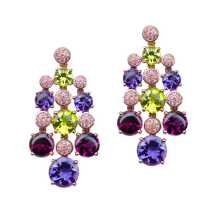 Boucles d'oreilles Macarons - Or Rose 18k