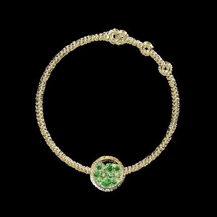 Bracelet Sac de Billes - Tsavorites Or Jaune 18k