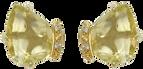 Boucles d'oreilles Papillon - Quartz Or Jaune 18k