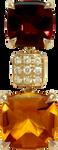 Pavés de Paris pendant - Citrine 18k Yellow Gold