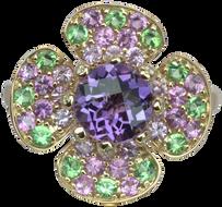 Flora Lotus ring - Amethyst 18k Pink Gold