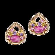 Petale earrings - Rubellites 18k Yellow Gold