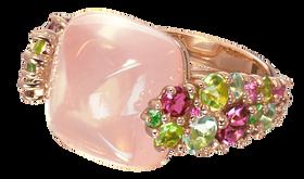 Pointilliste ring - Pink Quartz 18k Pink Gold