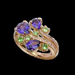 Batik Ring - Amethysts 18k White Gold