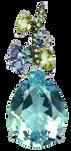Eden pendant - Blue Topaz 18k White Gold