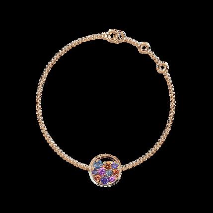 Bracelet Sac de Billes - Améthystes Or Rose 18k