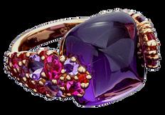 Pointilliste ring - Amethyst 18k Pink Gold