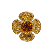 Flora Lotus pendant - Citrine 18k Yellow Gold
