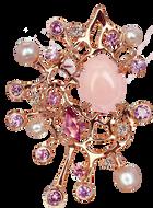 Starfish pendant - Pink Opal 18k Pink Gold
