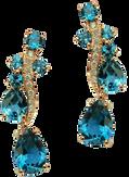 Boucles d'oreilles Batik - Topazes London Blue Or Jaune 18k