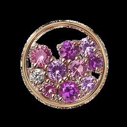 Sac de Billes pendant - Pink Tourmaline 18k Pink Gold