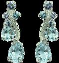 Boucles d'oreilles Batik - Iolites Or Blanc 18k