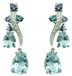 Boucles d'oreilles Batik - Or Blanc 18k