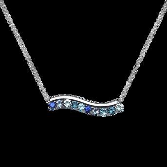 Ardèche necklace - Blue Topaz 18k White Gold