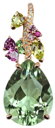 Pendentif Eden - Quartz Vert Or Rose 18k