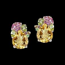 Eden earrings - Citrines 18k Pink Gold
